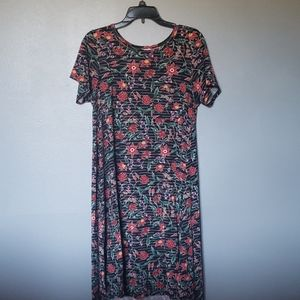 Lularoe flowered Carly dress